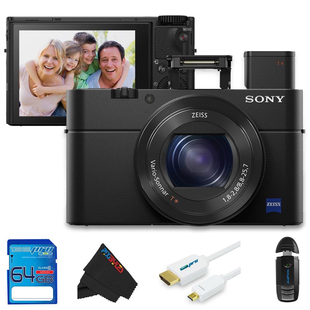 Sony Cyber - shot DSC - rx100 IV dsc-rx100 m4 dscrx100 m4 20.1 MP 4 Kデジタルカメラ+ 64 GB pixi-basicアクセサリキット   B018HBQ1UQ