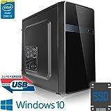 Megaport PC Intel Core i5-8500 8. génération (Sixcore) 6x 3,00GHz • 8 Go DDR4 2400 • 240Go SSD • 1000Go disque dur • Intel UHD Graphics 630 • Windows 10 • GigabitLAN • DVD graveur office PC computer desktop PC home multimedia pc