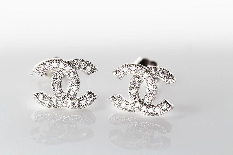 Findout de swarovski elements-dor/é rose//motif en argent 925 avec zircons cubiques ohrringe cadeau pour les femmes fille f617