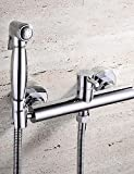 LINA@ HPB Contemporary Chrome Finish Brass Bidet Faucet