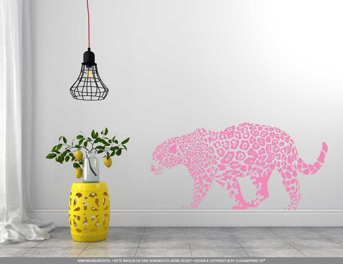 CLICKANDPRINT Aufkleber » Leopard, 150x74,4cm, Türkis • • • Wandtattoo   Wandaufkleber   Wandsticker   Wanddeko   Vinyl B073X8JSY7 Wandtattoos & Wandbilder 6c651a