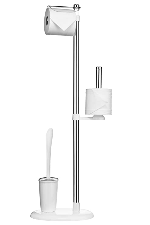 Premier Housewares - Portarrollos con escobillero (Acero ...