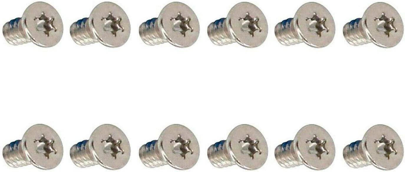 12pcs Bottom Cover Screws for Dell XPS 13 9350 9360 XPS 15 9550 9560 9570 M5510 (Silver)