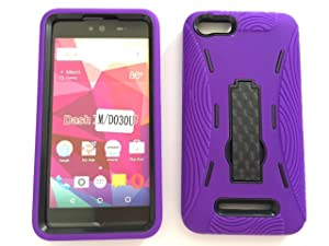 "Blu Dash X Plus 5.5"" Case, Premium Rugged Heavy Duty Drop Proof Case With Kickstand For Blu Dash X Plus 5.5"" -PURPLE"