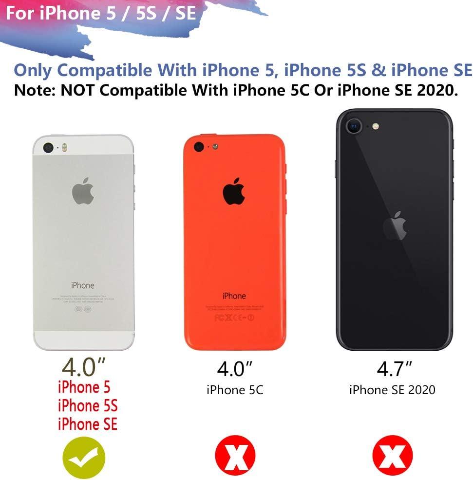 RUNSY Coque de batterie compatible avec iPhone 5 / 5S / SE, 4000 mAh rechargeable avec étui de chargement de batterie externe pour chargeur de ...