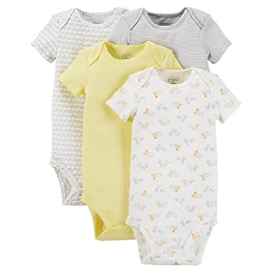 e385b7666 Carter's Precious Firsts Neutral Baby 4-Pack Bodysuit - Yellow (3 Months )