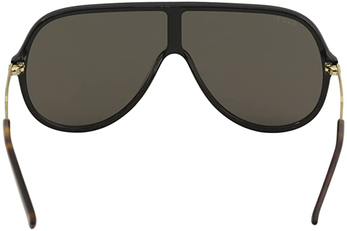 b0a37a0408a Gucci GG 0199S 002 Black Plastic Shield Sunglasses Silver Mirror Lens   Amazon.ca  Clothing   Accessories