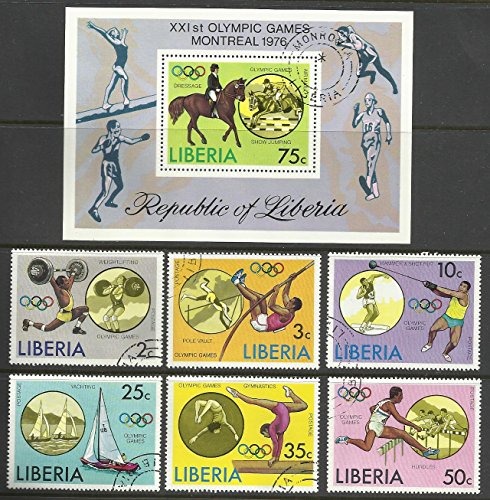 Liberia - 1976 Used. Complete Set. 6v.+ Souvenir Sheet. Olympic Games. Montreal Sports ()