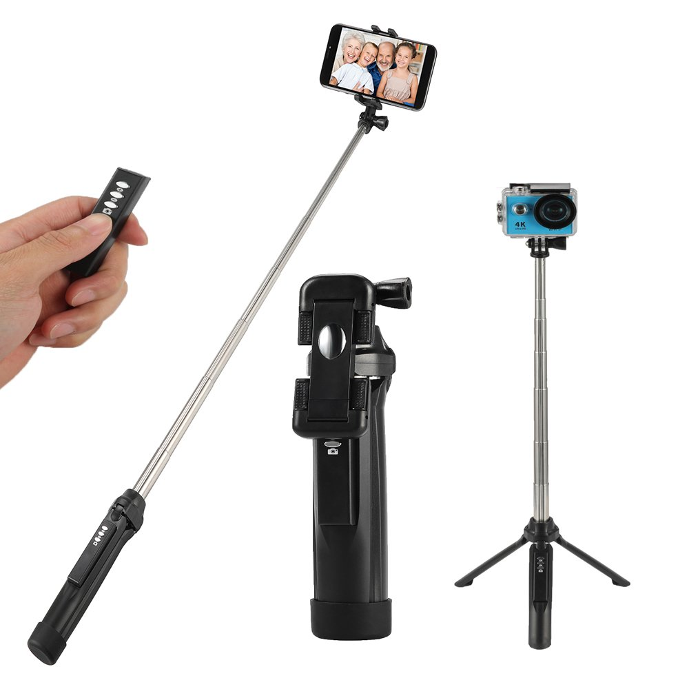Selfie Stick Tripod, Tiitarn Extendable Selfie Stick with Wireless Remote and Tripod Stand Selfie Stick for iPhone X/iPhone 8/8 Plus/iPhone 7/iPhone 7 Plus/Galaxy Note 8/S8/S8 Plus