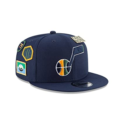 best cheap a0e9c 17751 Image Unavailable. Image not available for. Color  New Era Utah Jazz 2018 NBA  Draft Cap 9FIFTY Snapback Adjustable Hat- Navy