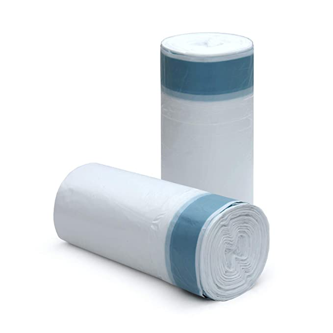 Amazon.com: 4 galones pequeño blanco fuerte cordón bolsa de ...