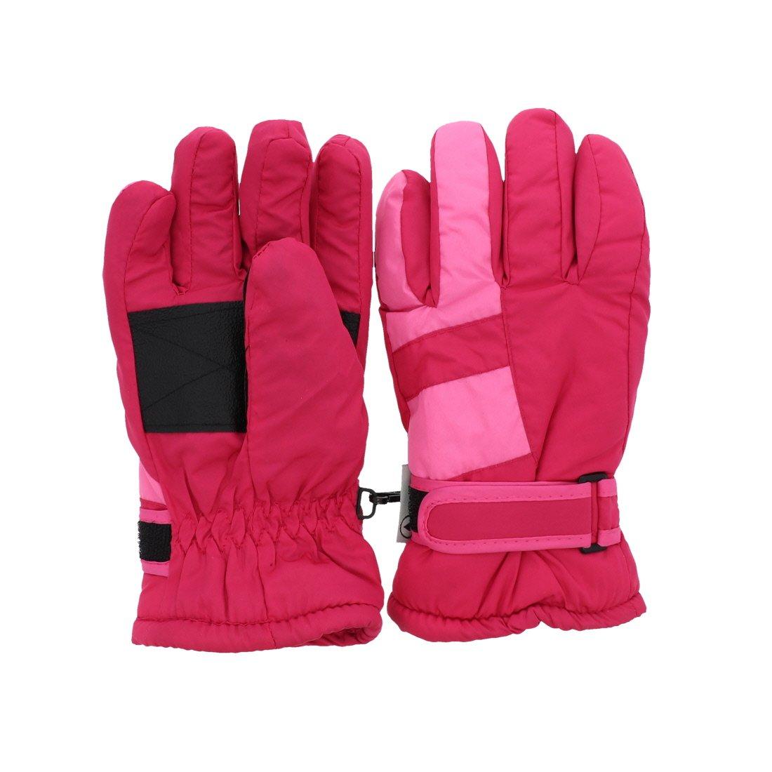 Waterproof Stripe Ski Gloves for Youth