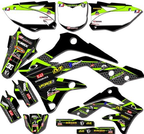Senge Graphics 1998-2000 KX 80/100 Podium Black Graphics Kit (Radiator For Kx 80 Dirt Bike compare prices)