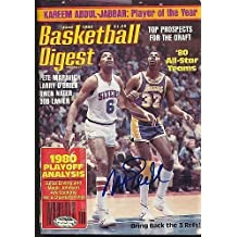 Magic Johnson Signed June 1980 Basketball Digest Autograph Schwartz A155868