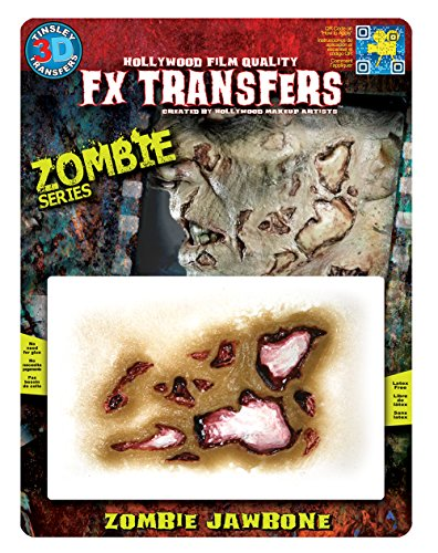 [Tinsley Transfers 3D FX Zombie MD Jawbone] (Hollywood Film Fancy Dress Costumes)
