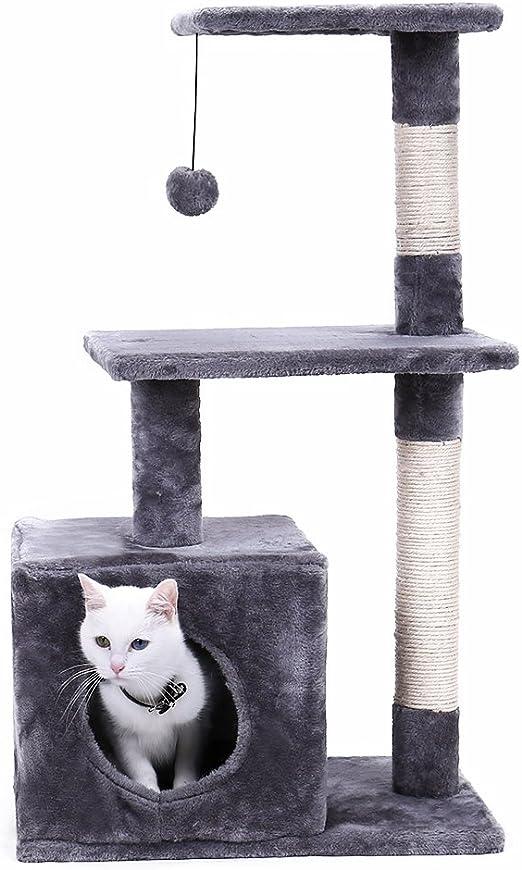 Rascador para gatos, árbol para rascar, altura 85 cm, con pelota ...