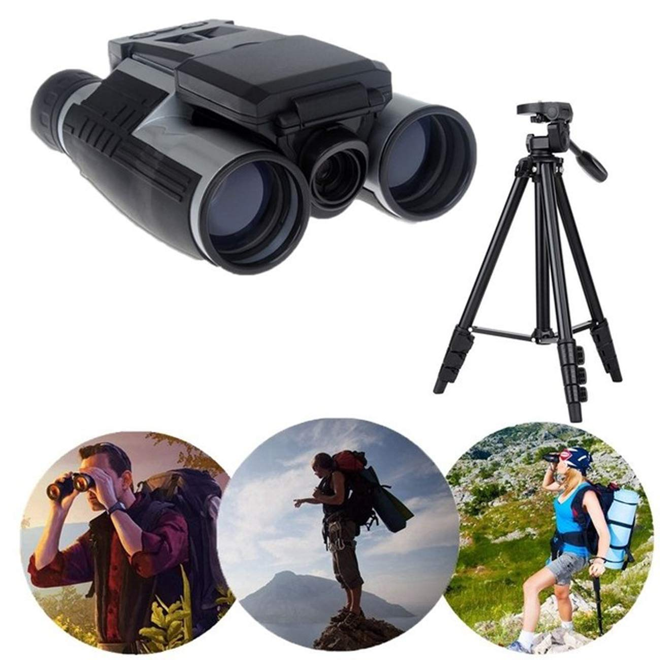 開店記念セール! LCD 1080Pビデオレコーディング12X32ズームデジタル望遠鏡双眼鏡+スタンドホルダーハイキングキャンプ用ポータブル望遠鏡 LCD B07M9NPT6N B07M9NPT6N, イイデマチ:1452a23c --- a0267596.xsph.ru