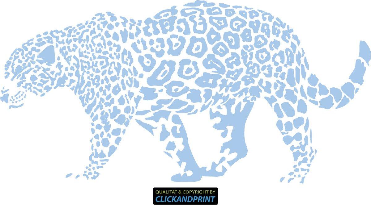 CLICKANDPRINT Aufkleber » Leopard, 150x74,4cm, Türkis • Wandtattoo   Wandaufkleber   Wandsticker   Wanddeko   Vinyl B073X93P2H Wandtattoos & Wandbilder