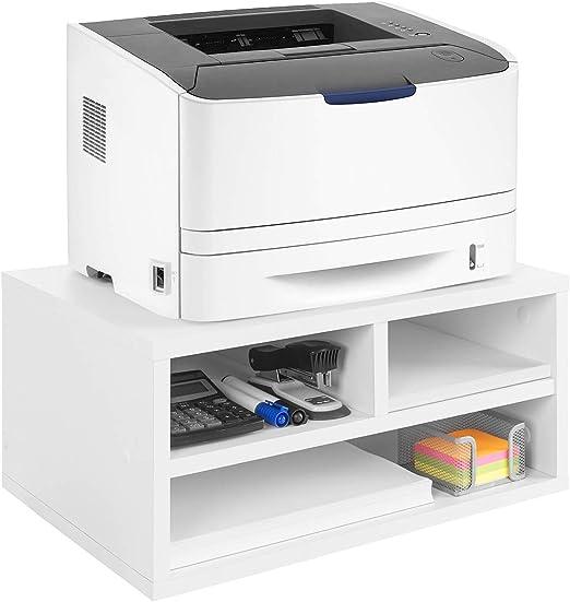 COMIFORT Soporte para Impresora- Funcional Elevador para Fax con ...