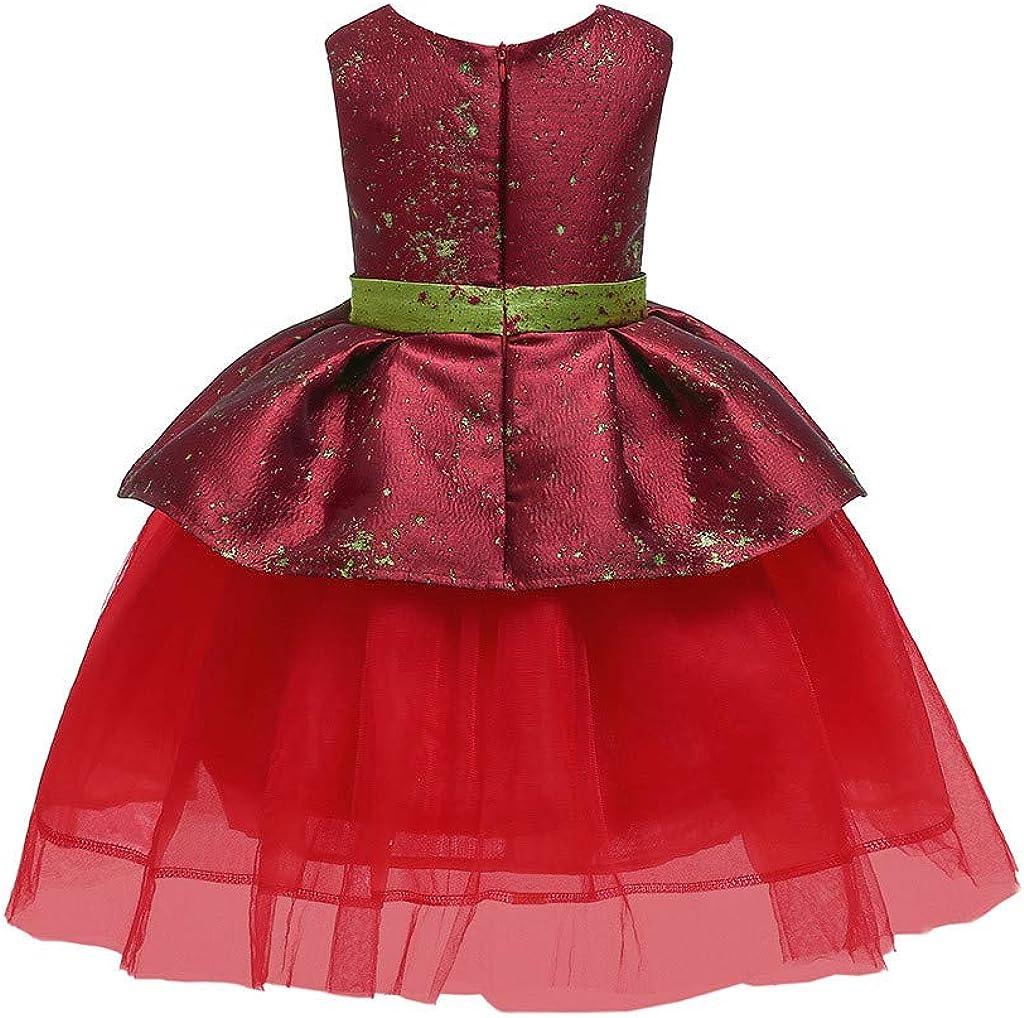 M/ädchen Prinzessin Kleide MEIbax Floral Baby Prinzessin Brautjungfer Pageant Kleid Geburtstag Party Hochzeitskleid Blumenm/ädchenkleid Weihnachten Babybekleidung