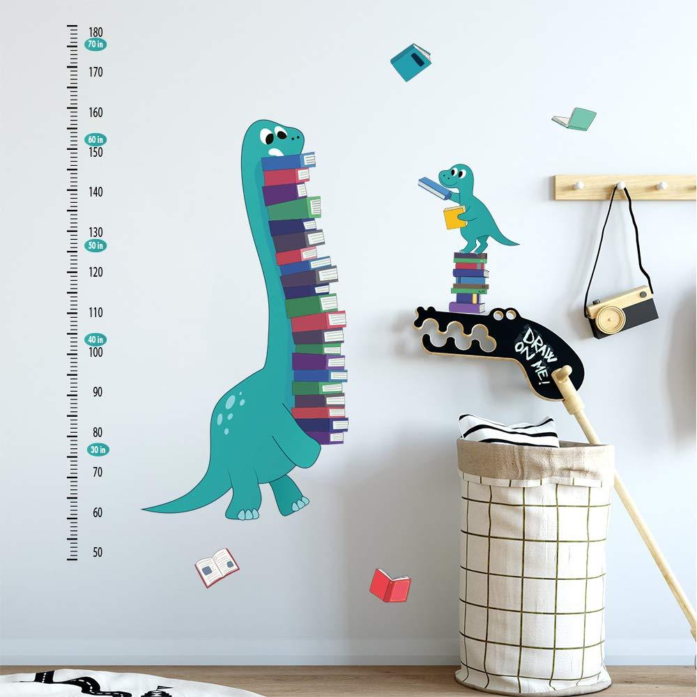 ufengke Stickers Muraux Toises Dinosaures Autocollants Mural Croissance Livres pour Chambre Enfants B/éb/é P/épini/ère Salon D/écoration Murale
