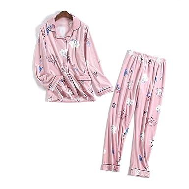 ff913f601 Tellusa Flannel Couples Pyjamas Women and Man Winter Pajamas Cartoon  Feminino Flanela Warm Elegant Cute Bunny