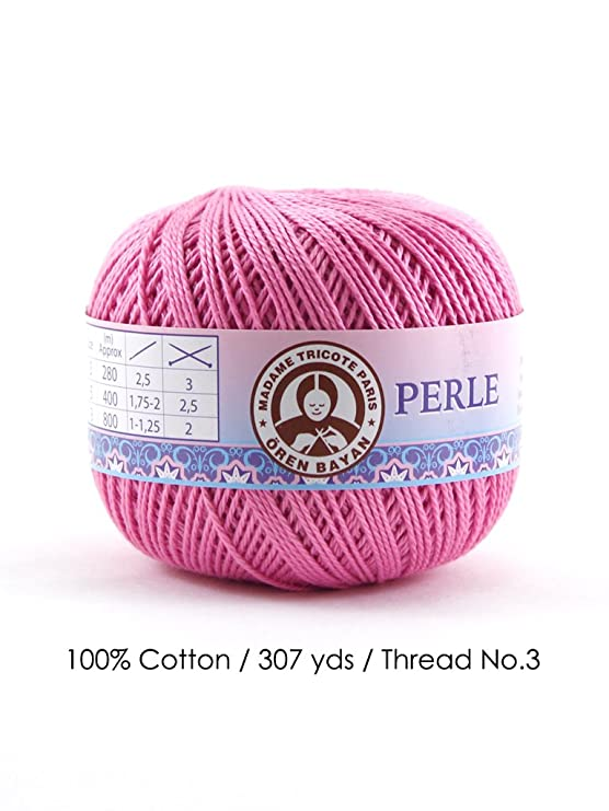 3 307 Yards//Thread No Red Perle 3//100/% Cotton