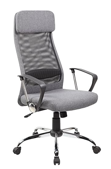 Amazoncom Anji High Back Ergonomic Mesh Office Chair With Padded - Grey office chair