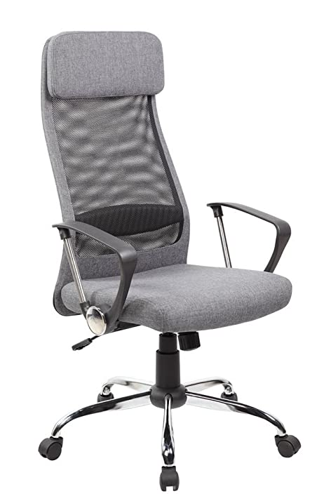 Anji High Back Ergonomic Mesh Office Chair with Padded Fabric Ajustable  Seat  Tilt Tension Amazon com  Anji High Back Ergonomic Mesh Office Chair with Padded  . Grey Fabric Office Chair. Home Design Ideas