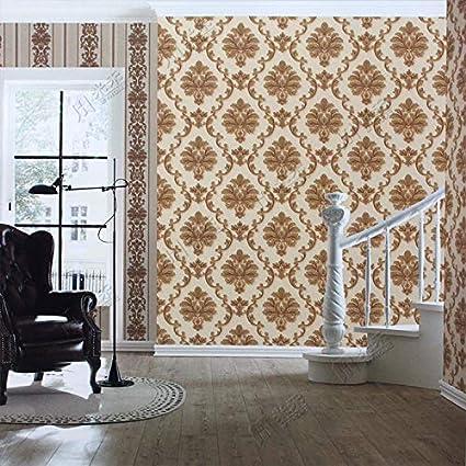 Eurotex Vinyl Coated Wallpaper (50.01 cm x 8 cm x 8 cm, Almond Beige)