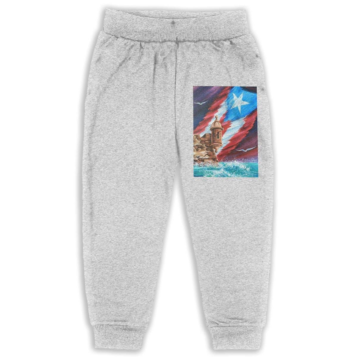 JOAPNWJ Children Cartoon Cotton Sweatpants Sport Jogger Elastic Pants