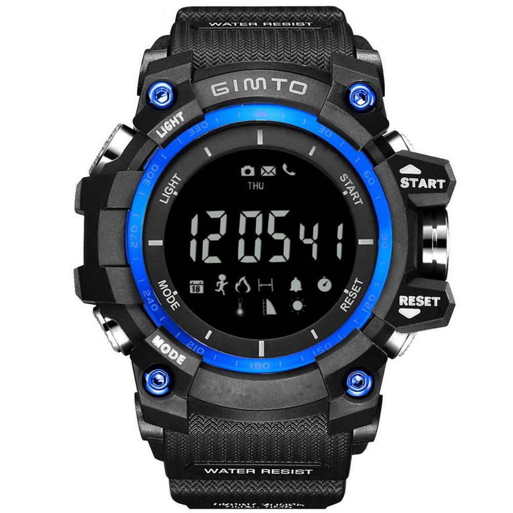 SPORS Multi-Function Step Waterproof Watch, Compass Watch, Outdoor Mountaineering Watch-Blue by SPORS