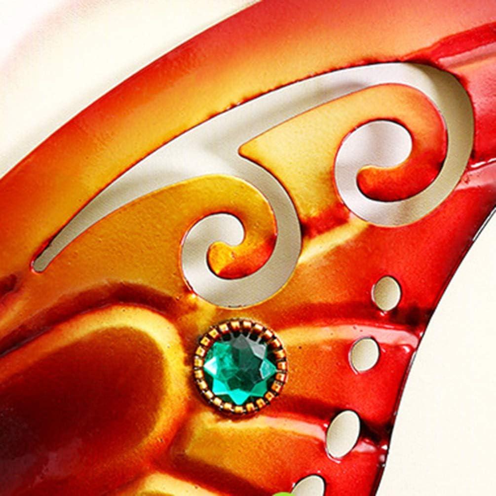 Orange Cabilock Papillon en M/étal Art Mural D/écoration Murale Inspirante Sculpture Suspendue pour Des Sculptures Murales Int/érieures Et Ext/érieures