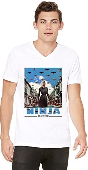 Die Antwoord Enter The Ninja Mens V-neck T-shirt XX-Large ...