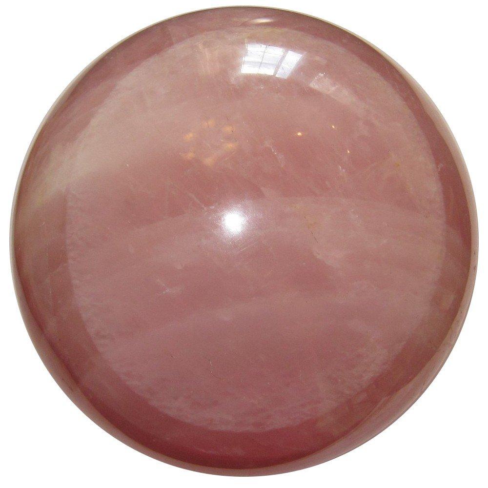 Rose Quartz Ball 45 Large Crystal Sphere Pink Stone Spiritual Eye Spirit Guard Gemstone 4.2'' by SatinCrystals (Image #2)