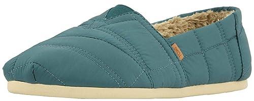 Toms Classic Stellar Azul Quilted Nylon Hombres Alpargatas Zapatos: Amazon.es: Zapatos y complementos