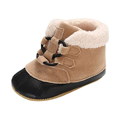 542514dec8a6b Chaussures Premiers Pas Hiver Chaud Peluche Sneakers Enfant Bottes De Neige Garçon  Fille Tonsi  Amazon.fr  Chaussures et Sacs