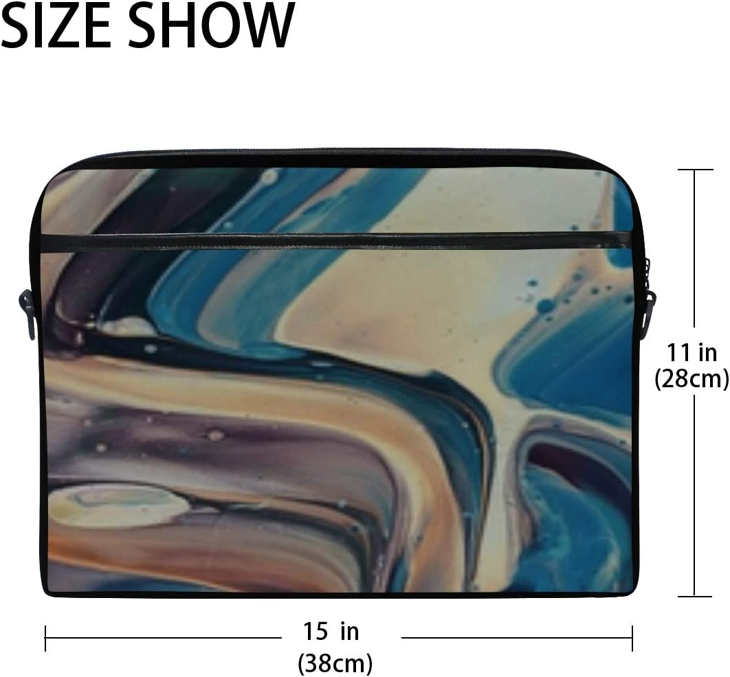 Paint Irregularities Stains Laptop Shoulder Messenger Bag Case Sleeve for 14 Inch to 15.6 Inch with Adjustable Notebook Shoulder Strap