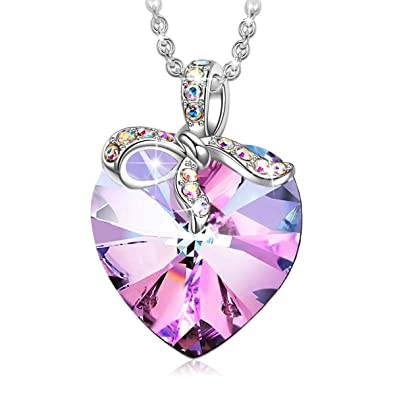 58cada6ae J. RENEÉ Blessed Love Pendant Necklace with Purple Swarovski Crystal,  Jewellery for Women,