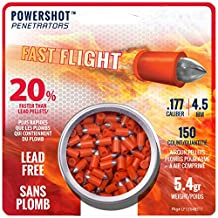 Crosman LF1754 Powershot Fast Flight Penetrators 0.177 Caliber Airgun Pellets (150-Count)