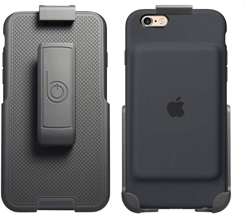 BELTRON Belt Clip Holster for the Apple Smart Battery Case - iPhone 6/6S (case not included) - Features: Secure Fit, Quick Release Latch, Durable Rotating Belt Clip & Built-in Kickstand