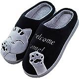 Cliont Zapatillas de Gato Lindo Zapatillas de Invierno de Interior Zapatos Antideslizantes Mujeres y Hombres