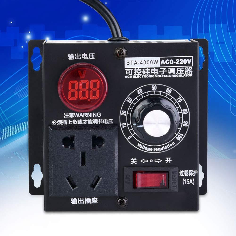 Contr/ôleur de vitesse de ventilateur de moteur de r/égulateur de tension /à CA 220V SCR 4000W EU