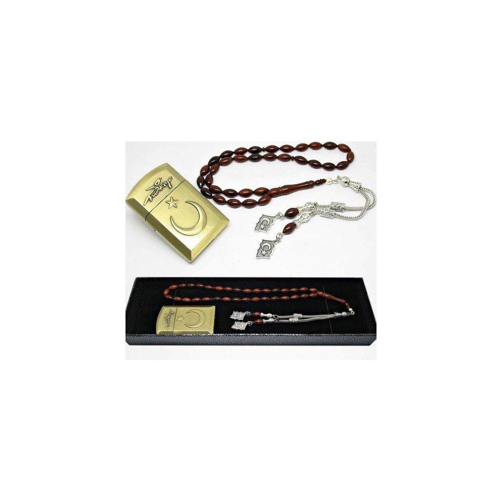 Kit de encendedor de bandera turca y rosario real de Kuka
