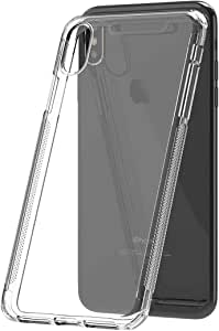 ShieldX2 Ultra Thin Transparent Case with tempered glass screen protector and Phone Replacement Promise for Apple iPhone XS max , 6.5 inch - Clear
