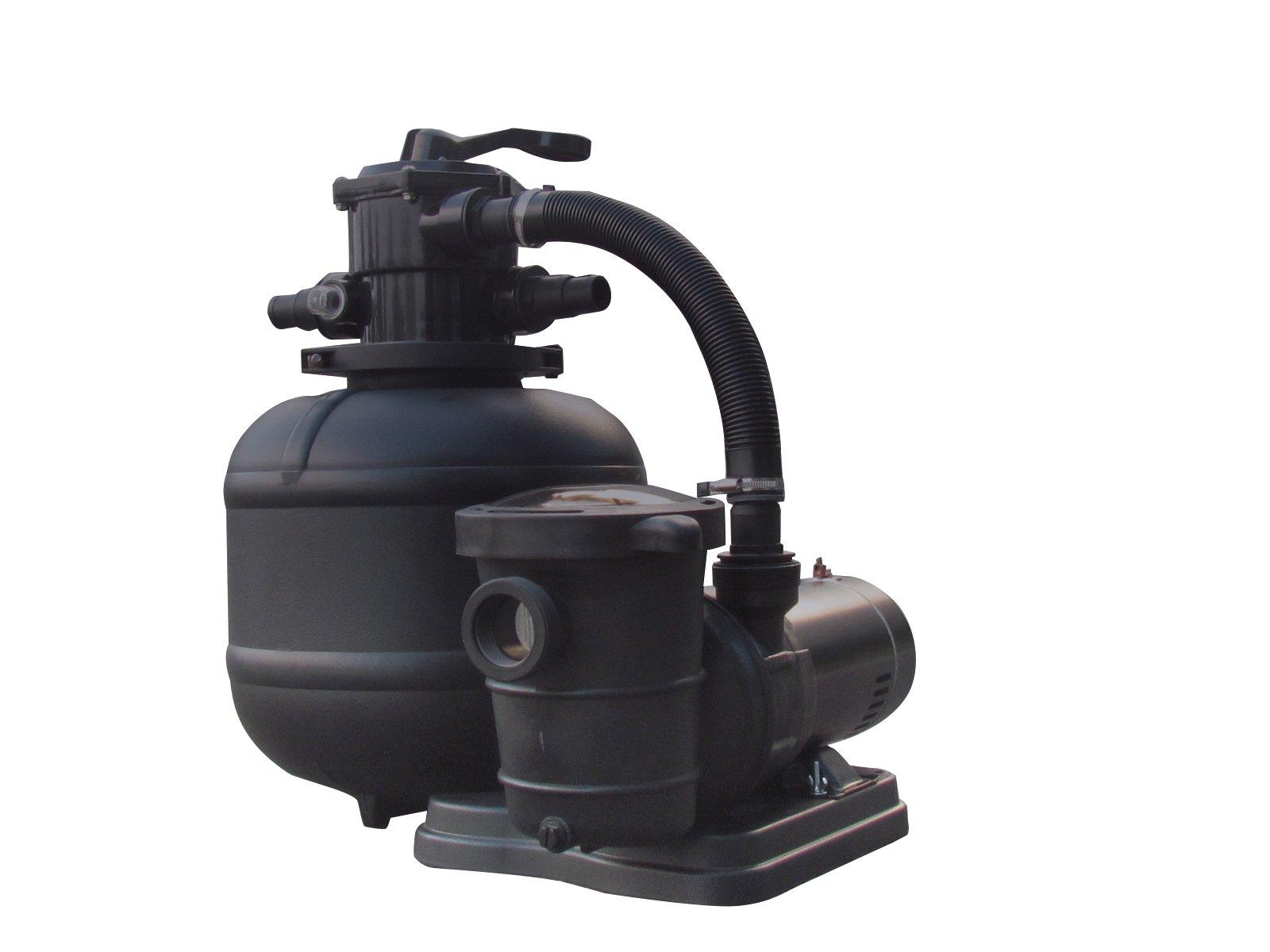 FlowXtreme NE4499 Pro 2 19-in 150lb Sand Filter System 2SP Pump for AG Pools, 5280-2400 GPH/1HP, Black by FlowXtreme