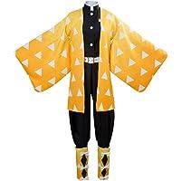 Baycon Adult Tanjirou Kamado Costume Demon Slayer: Kimetsu no Yaiba Cosplay Outfit Kimomo for Mens