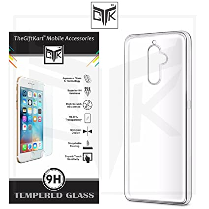 the latest 4f4b0 ea32c Lenovo K8 Note Tempered Glass + Back Cover - TheGiftKart HD Tempered Glass  + Ultra Thin Soft Back Cover