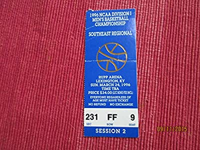 "1996 NCAA University of Kentucky Southeast Regional Championship 5"" Ticket stub"