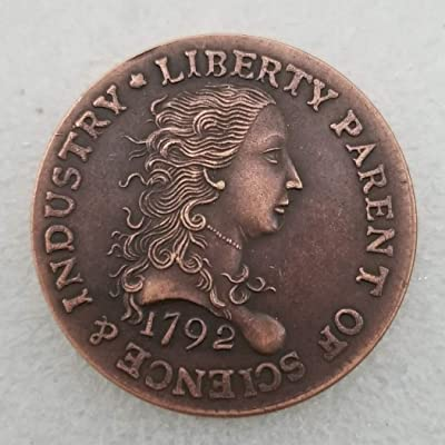 GreatSSCoin 1792 Antique Liberty One-Cent Coin -Great American Commemorative Coin - US Old Coins- Original Pre Morgan Uncirculated Condition Great Uncirculated Coin: Toys & Games